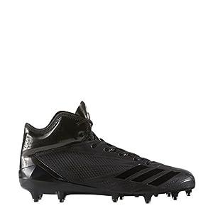 adidas Adizero 5Star 6.0 Mid Cleat Men's Football 9.5 Black-Black-Black