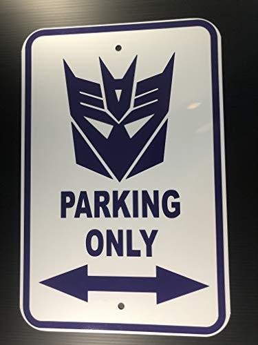 Transformer Aluminum - POPCultureSigns Decepticon Parking Aluminum Sign 18