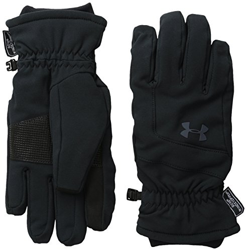 Under Armour Men's GORE-TEX WINDSTOPPER Gloves, Black (001)/Stealth Gray, Medium (Armour Gloves Under Motorcycle)