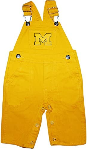 University of Michigan Wolverines Outlined M Baby Overol