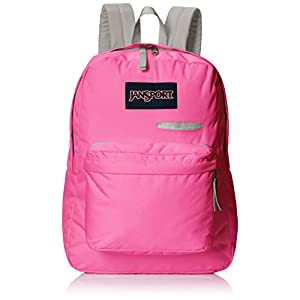 "JanSport Digibreak Backpack - Fluorescent Pink / 16.7""H x 13""W x 8.5""D"