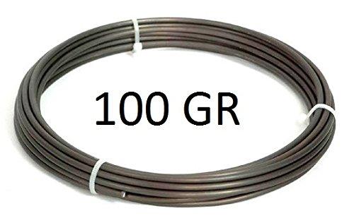 Bonsaï–Fil aluminium 1mm 100gr., env. 47m, mat braunschwarz