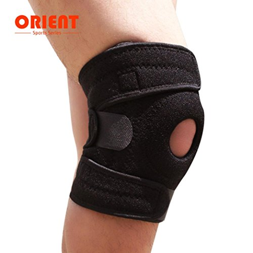 Price comparison product image Lywey Elasticity Knee Support Injury Pressure Protection Pain & Arthritis Relief,  MMA Pad Guard Protector Gel Sports Work Improved Running,  Jogging,  Workout,  Walking & Recovery (Black)