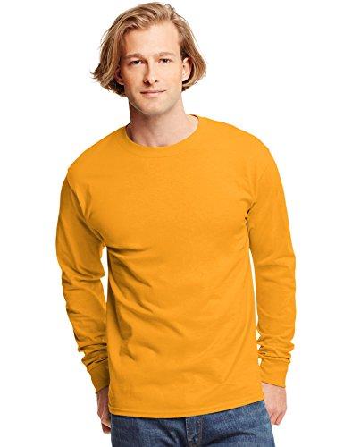 - Hanes 6.1 oz. Tagless� ComfortSoft� Long-Sleeve T-Shirt - GOLD - L