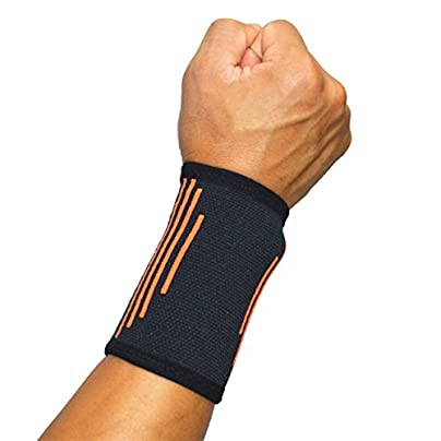 Busy Mom Pair Wrist Bands Support Brace Sweatband Armbands Compression Sleeve for Sport Fitness Basketball Tennis Gym Gymnastics Arthritis Men Tendonitis Relief for Mouse Keyboard Pain Estimated Price £7.59 -