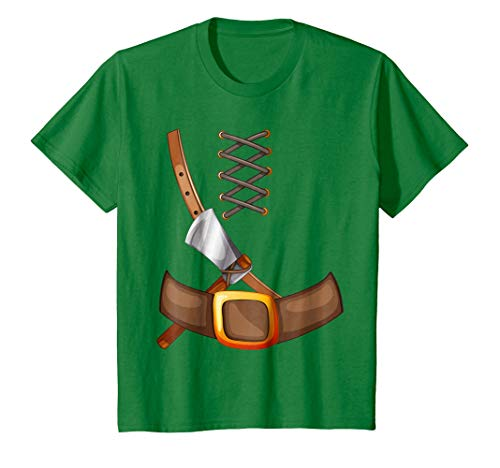 Kids Viking Costume Halloween T-Shirt Trick Or Treating Inspired 6 Kelly Green