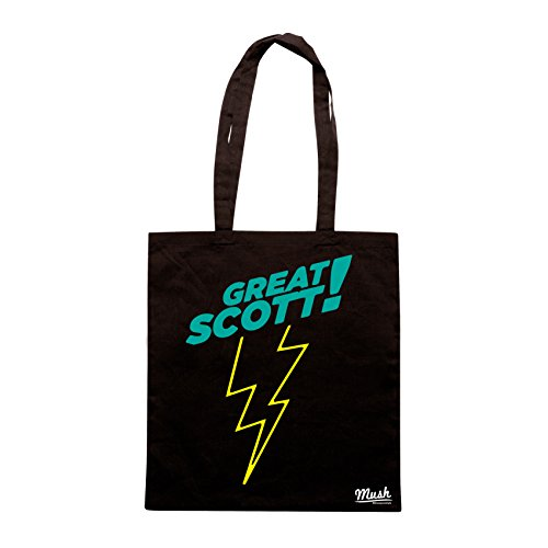Borsa GRANDE GIOVE- GREAT SCOTT BACK TO THE FUTURE - Nera - FILM by Mush Dress Your Style