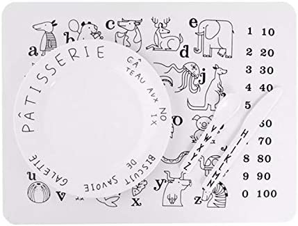 Waterproof Children/'s Silicone Alphabets Durable and Reusable BPA Free Washable Heat Resistant Toddlers and Kids or all ages to use Multi-use Drawing//Colouring easy to clean and wipe Safe for Babies Numbers and Animals Educational Placemats