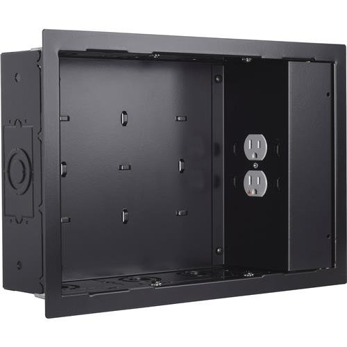 Chief PAC525FBP2 In Wall Small Blk with Surgex 1 Outlet