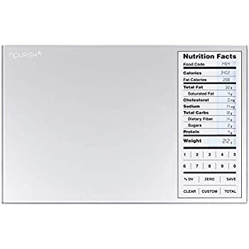 Greater Goods Nourish Digital Kitchen Food Scale and Portions Nutritional Facts