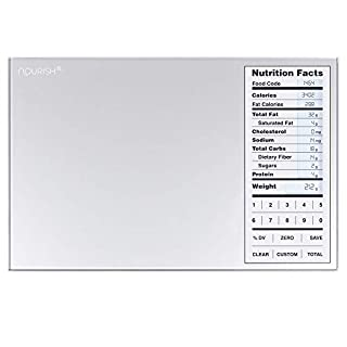 GreaterGoods Nourish Digital Kitchen Food Scale, Not-Connected, Digital Food Code App Download Included (New Backlit)