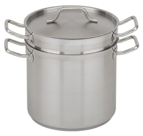 Royal Industries Double Boiler with Lid, 16 qt, 11'' x 10.4'' HT, Stainless Steel, Commercial Grade - NSF Certified