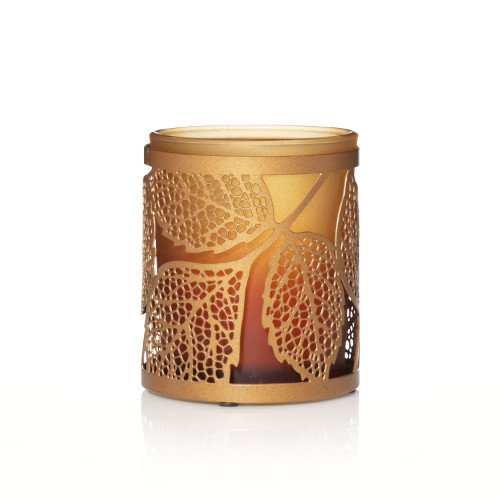 Yankee Candle Amber Leaves Tea Light Candle Holder