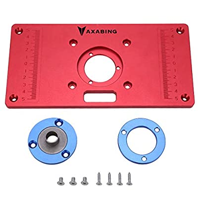 Router Table Insert Plate Aluminum Red Board Universal Trimming Machine Flip Board for Woodworking, 6270mm