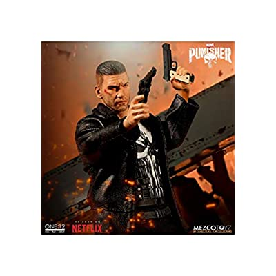 Mezco MAR188817 Toys One: 12 Collective: Marvel Netflix Punisher Action Figure, Multi-Colored: Toys & Games
