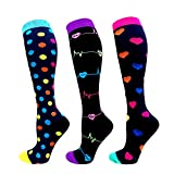 Compression Socks Women & Men 20-30 mmHg (3/6 Pairs), Best Athletic & Medical Running Flight Travel Pregnant