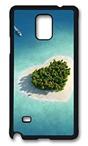 Adorable Heart shaped at sea Hard Case Protective Shell Cell Phone Cover For Samsung Galaxy Note 4 - PCB
