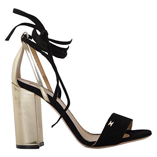 Elisabetta Franchi Mujer SA6702261110 Negro Cuero Sandalias