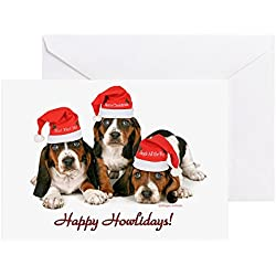 Great gifts for dog lovers basset hound christmas cards basset hound christmas cards 20 pack note card with blank inside bookmarktalkfo Gallery
