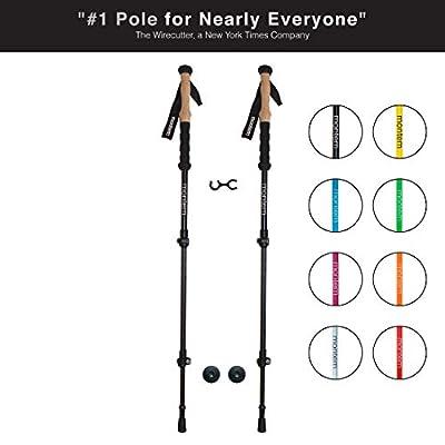 Montem Ultra Strong Hiking/Walking/Trekking Poles - One Pair (2 Poles)