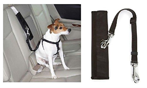 Dog Harness Seat Belt Connectors Turn Walking Harnesses In To Car Safety (Interactive Training Table Connectors)