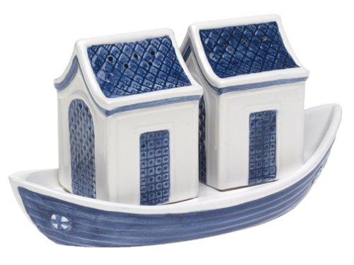 - Johnson Brothers Willow Blue Dinnerware 3-Dimensional Salt & Pepper Set