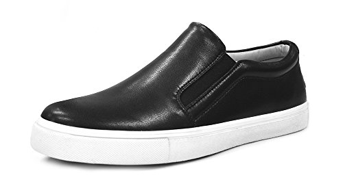 ZXD Casual Fat Sole Loafers Slip Ons Sneakers Flats Trainers Low Top Round Toe Spring Summer Shoes Black 10.5 Size