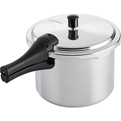 Farberware Cookware Aluminum Pressure Cooker, 6-Quart-Built-in safety features include pressure regulator, visual indicators, and locking cover lid to ensure safe and easy stovetop pressure cooking