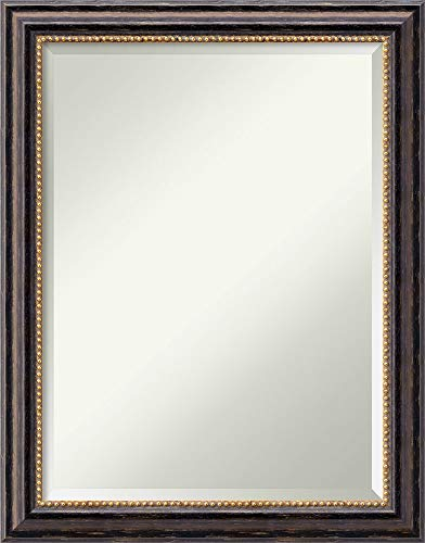 Amanti Art Vanity Bathroom Wall | Tuscan Rustic Frame | Solid Wood Mirror |, Glass Size 18x24,
