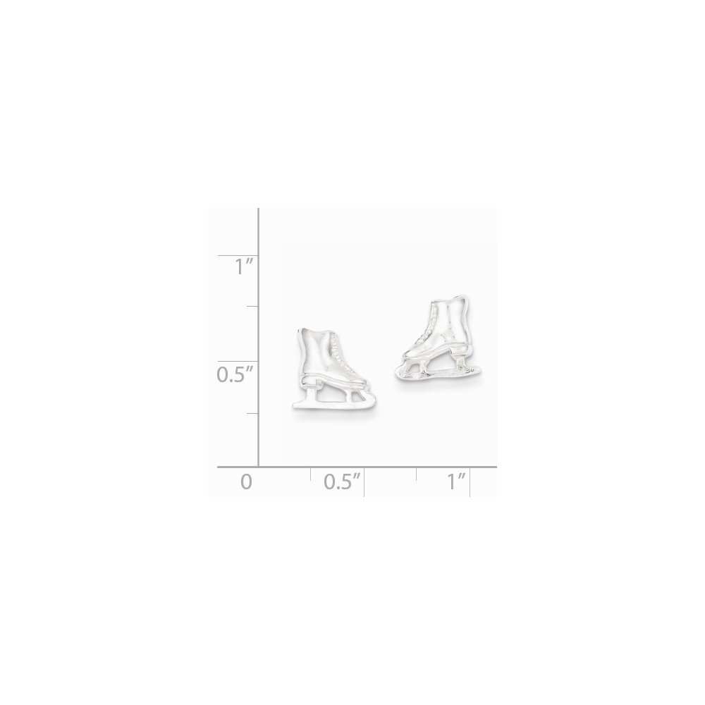 925 Sterling Silver Ice Skate Mini Earrings