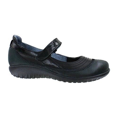 Naot Footwear Women's Kirei Black Madras Leather/Shiny Black Leather/Black Patent 43 (US Women's 12) (Naot Footwear Kirei)