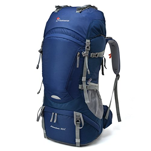 Mountaintop 65L Outdoor Hiking Backpack Camping Internal Frame Bag Sapphire Blue