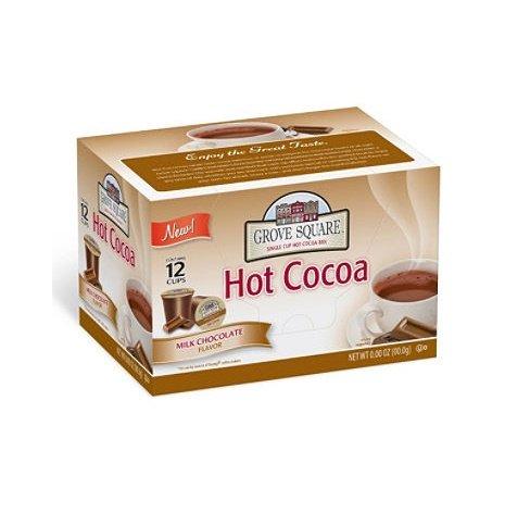 Grove Square Milk Chocolate Hot Cocoa Mix -- 72 per case. (Vue Chocolate Cups Hot)