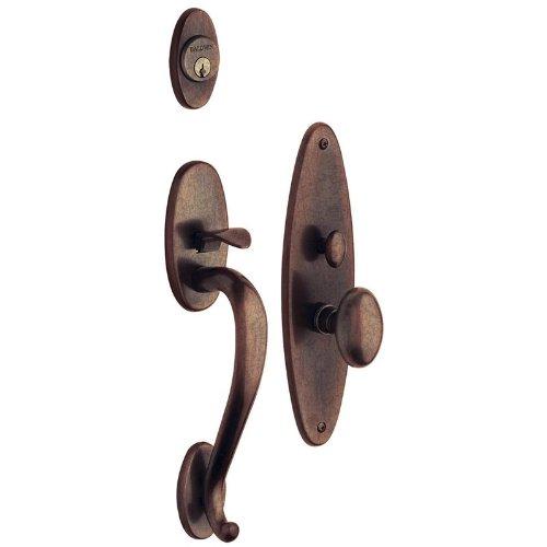 Baldwin 6560.ENTR Lexington Single Cylinder Mortise Handleset Trim Set, Distressed Venetian Bronze
