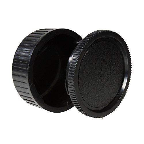 CamDesign Body Cap & Camera Rear Len Cover Set for Pentax *ist DS, DS2, D, DL, DL2, K10D, K20D, K100D, K110D, K200D, K100D Super, K-5, K-7, K-30, K-r, K-x, K-m, (K-m aka K2000), K-01 + CamDesign Wristband Lens Focus Ring (Cap Pentax Body)