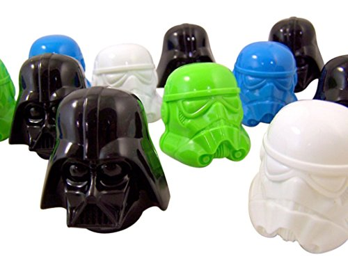 Star Wars Darth Vader and Stormtrooper Head Candy Filled Eggs, Box of 16 (Star Wars Candy)