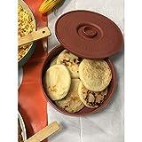 IMUSA USA Terracota Tortilla Warmer, 1 Pack, Brown