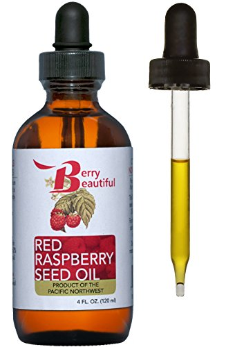 - Red Raspberry Seed Oil - Cold Pressed by Berry Beautiful from locally grown Raspberries - 100% Pure & Unrefined (4 fl oz)