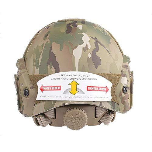 QZY Casque PJ Fast Tactical avec Masque pour Le Visage Couvre-Chef Polyvalent - Casque D'entraînement Multifonctionnel… 5