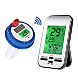 Yowosmart Professional Wireless Pool Thermometer New Version Floating Solar Powered Thermometer for Pool, Spa, Bathtub and fishpond
