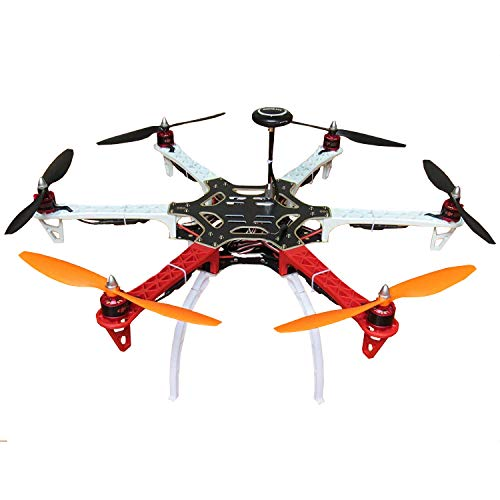 Hobbypower DIY F550 Hexacopter Frame Kit with Pixhawk Fight Controller+7M GPS +Simonk 30A ESC + 2212 920KV Motor