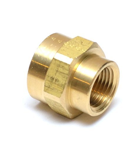 """FasParts 3/4"""" Female NPT to 1/2"""" Female NPT FIP FPT Reducing Coupling Brass Pipe Fitting Fuel / Air / Water / Boat / Gas / Oil WOG"""