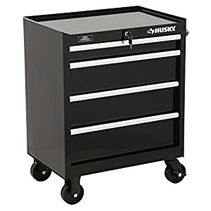 Husky 27 in. W 4-Drawer Tool Cabinet, Black