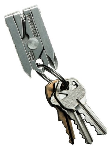 Swiss+Tech ST56002 Micro-Tech 6-in-1 Key Chain Multi-Function Tool, Metal Gift Box, Outdoor Stuffs