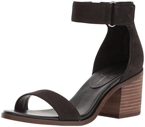 Jessica Simpson Women's Rylinn Heeled Sandal, Black, 10 Medium US JS-RYLINN
