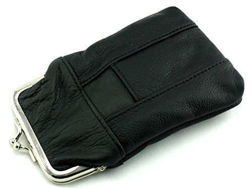 (Skyway Kendrick Leather Cigarette Pack Holder Case with Lighter Pouch - Black)