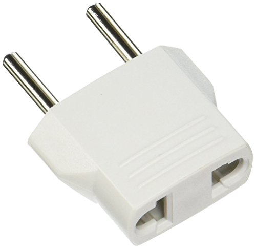Ckitze Round White USA to Europe/Asia/Africa Travel Power Plug Adapter - European Round Plugs