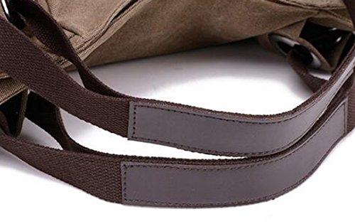 "KISS GOLD(TM) Women's Canvas Hobo Top-handle Bag Crossbody Shoulder Bag, European Style, Large Size 16""X6.8""X12"", Grey"