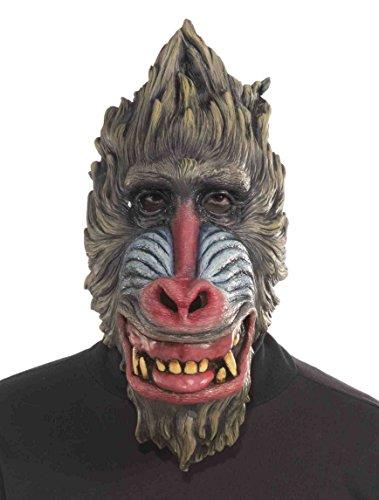 Forum Novelties Men's Deluxe Latex Baboon Mask, Multi, One (Baboon Latex Mask)