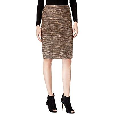 Catherine Malandrino Womens Stacia Tweed Textured Pencil Skirt